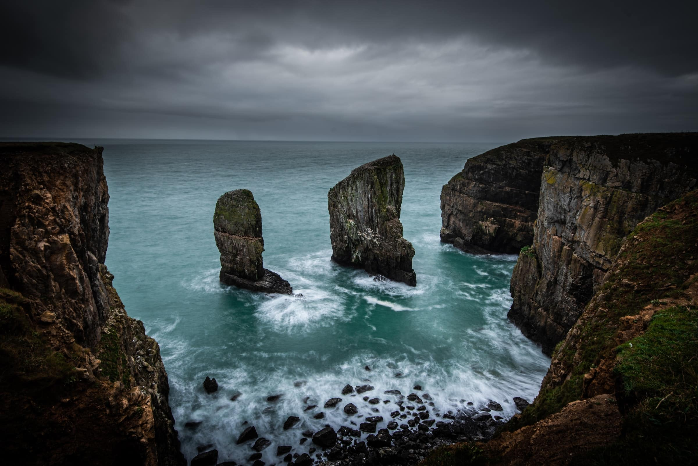Elegug sea stacks in Pembrokeshire